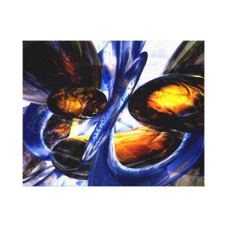 Exalted Glow Abstract Gallery Wrap Canvas