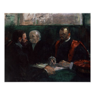 Examination at the Faculty of Medicine, 1901 Poster