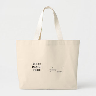 Example following on Twitter Add Image & Text Jumbo Tote Bag
