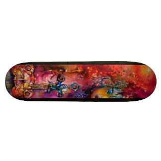 EXCALIBUR ,red purple blue Skate Board