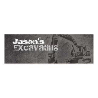 Excavating Skinny Business Cards