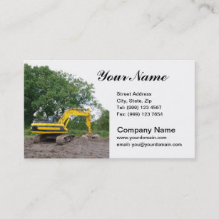 Excavation business cards zazzle au excavation business card colourmoves