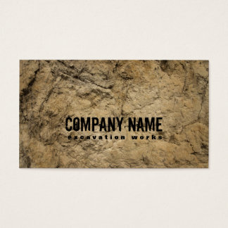 Excavation Works Business Card