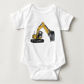 Excavator #1 by Fameland Baby Bodysuit