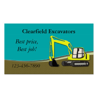 Excavator Business Cards