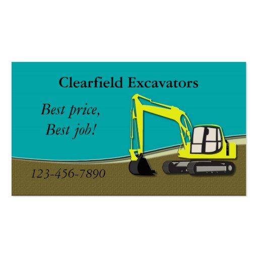 Excavator Business Cards