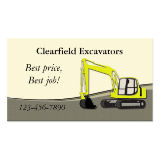 Excavator Pack Of Standard Business Cards