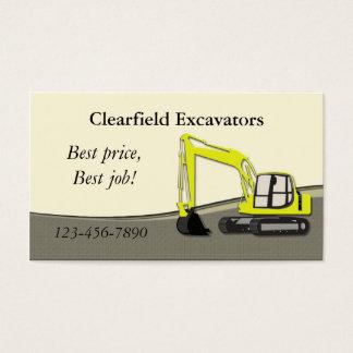 Excavator Business Card