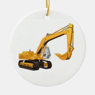 Excavator Ceramic Ornament