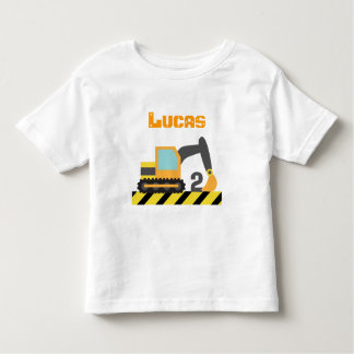 Excavator Construction Vehicle For 2 Years old Toddler T-Shirt