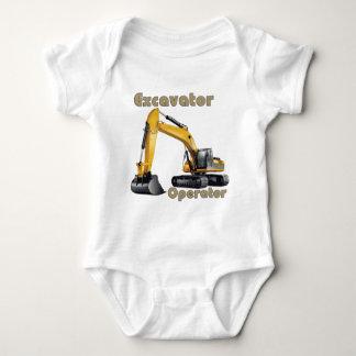 Excavator Operator Baby Bodysuit