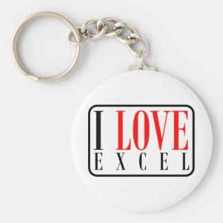 Excel, Alabama Basic Round Button Key Ring