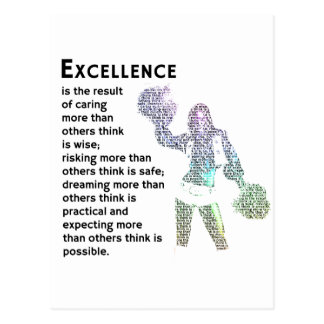 Excellence - Cheer Phrase Postcards
