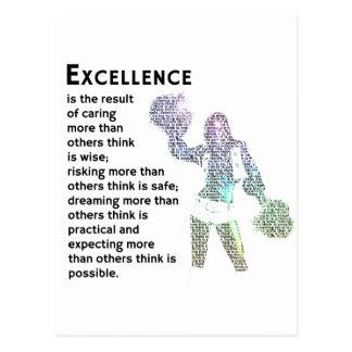 Excellence - Cheer Phrase Postcard