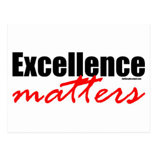 Excellence Matters Postcard