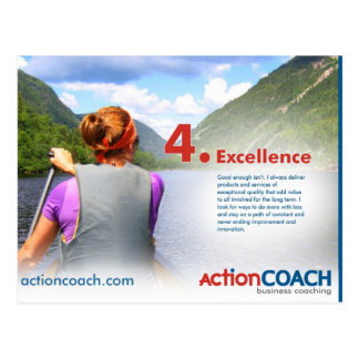 Excellence Post Card - 14 Points of Culture