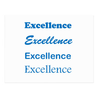 EXCELLENCE: School,Sports,Team, Family,Community Postcard