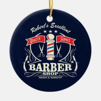 Excellent Barber Shop Stylist Shave Ceramic Ornament