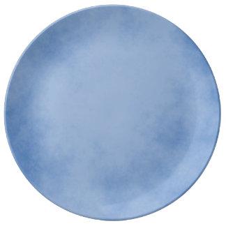 Excellent Blue Parchment Plate