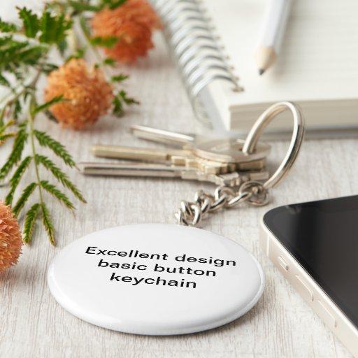 Excellent design basic button keychain