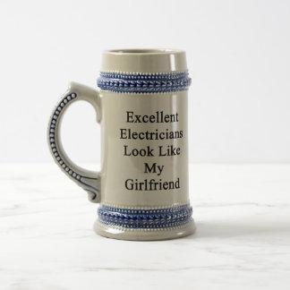 Excellent Electricians Look Like My Girlfriend Beer Steins