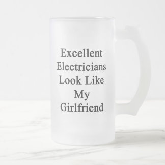 Excellent Electricians Look Like My Girlfriend Frosted Glass Mug