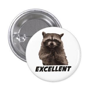 Excellent Evil Plotting Raccoon 3 Cm Round Badge