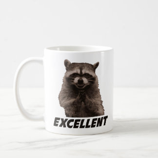 Excellent Evil Plotting Raccoon Coffee Mug