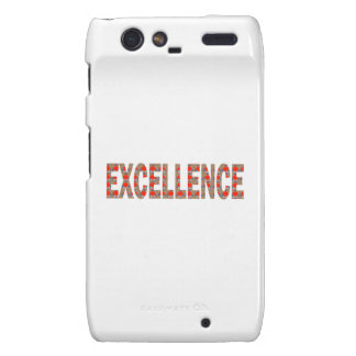 EXCELLENT EXCELLENCE Quality Achievement Topper Motorola Droid RAZR Cover