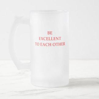 EXCELLENT FROSTED GLASS BEER MUG