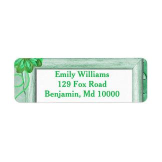 Excellent Green Floral Return Address Label