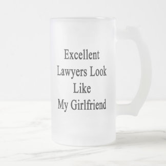 Excellent Lawyers Look Like My Girlfriend Frosted Glass Mug