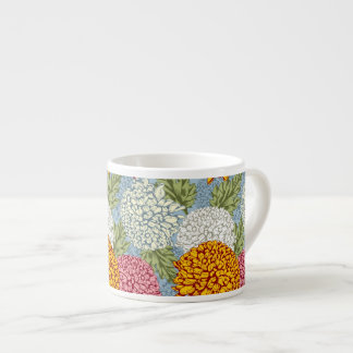 Excellent pattern with chrysanthemums espresso mug