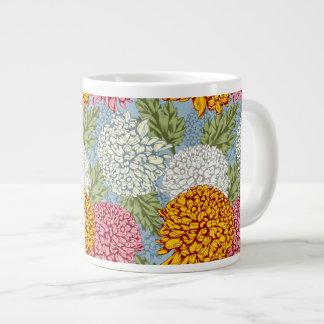 Excellent pattern with chrysanthemums jumbo mug