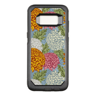 Excellent pattern with chrysanthemums OtterBox commuter samsung galaxy s8 case