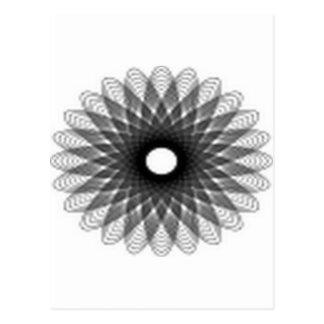 Excellent spiral design postcard