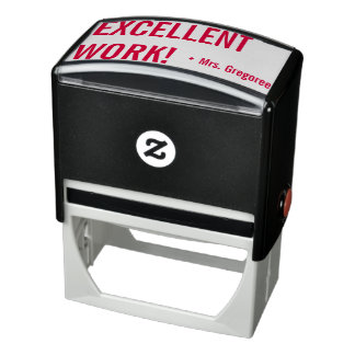 """""""EXCELLENT WORK!"""" Educator Rubber Stamp"""