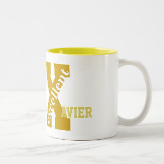 Excellent X Names, Change The Name Initial Two-Tone Mug