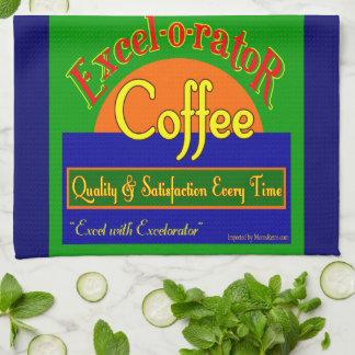 Excelorator Retro Coffee Label Kitchen Towel