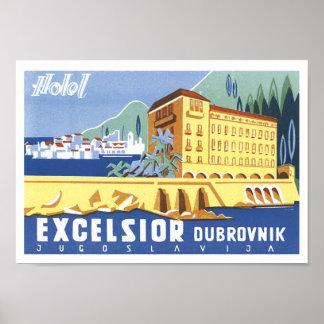 Excelsior Dubrovnik Travel Poster