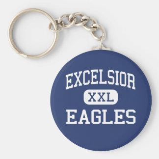 Excelsior - Eagles - High School - Aurora Colorado Basic Round Button Key Ring