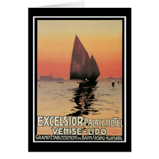 Excelsior Palace Hotel: Venise-Lido Greeting Card