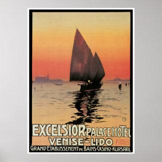 Excelsior Palace Hotel - Vintage Travel Poster