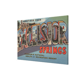 Excelsior Springs, Missouri - Large Letter Canvas Print
