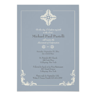 Exceptional Cross Blue Religious Invitation