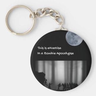 Excercise run in a zombie apocalypse key ring