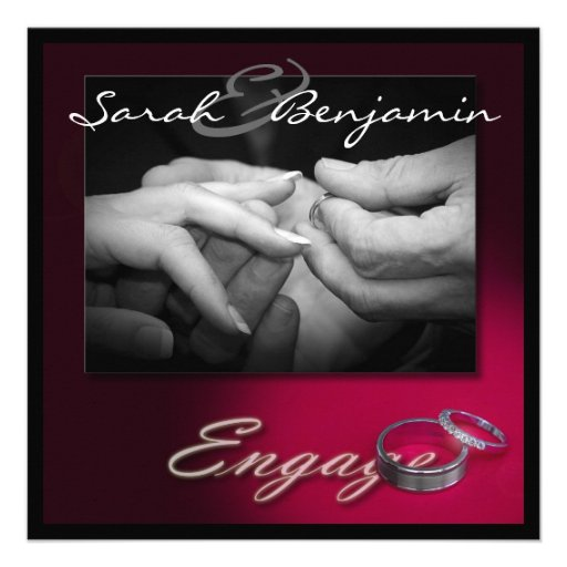 Exchanging Rings with Wedding Bands Announcements