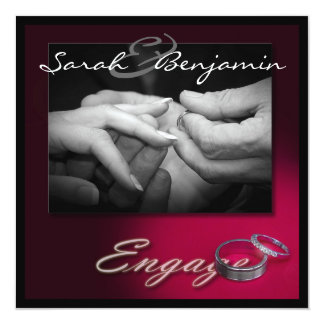 Exchanging Rings with Wedding Bands 13 Cm X 13 Cm Square Invitation Card