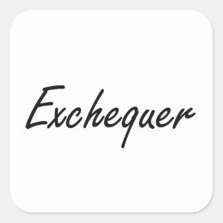 Exchequer Artistic Job Design Square Sticker