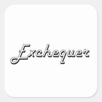 Exchequer Classic Job Design Square Sticker